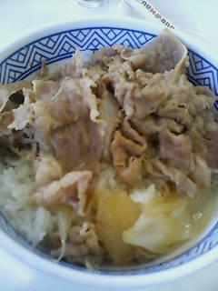 お昼は吉野家(^-^)