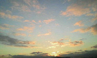 夕方の空。。